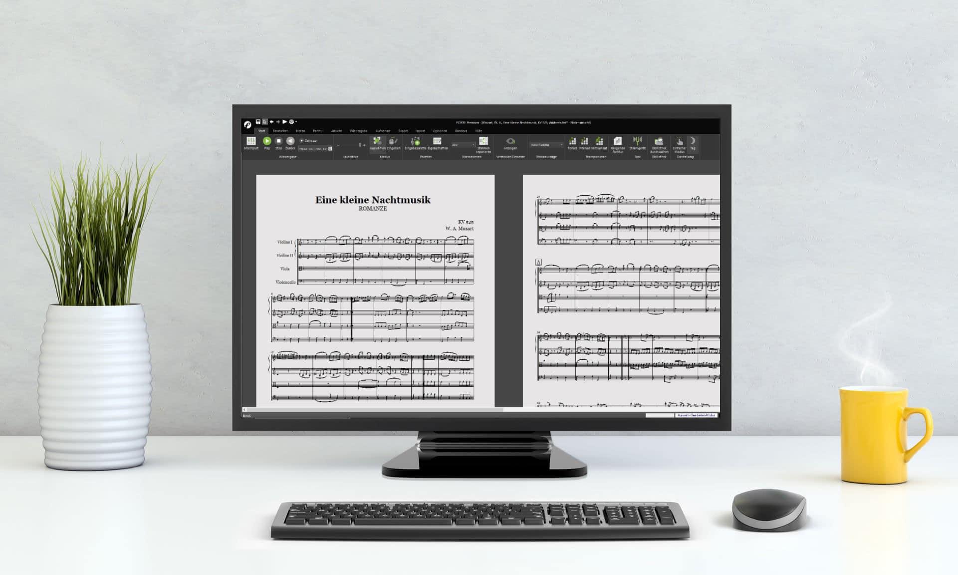 Das Notenschreibprogramm FORTE 12 Premium